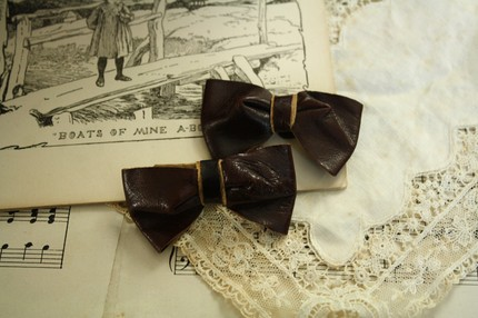 $15 Brown Leather Bows