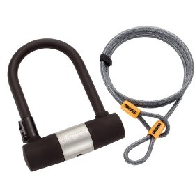 OnGuard PitBull MINI DT 5008 Bicycle U-Lock and Extra Security Cable