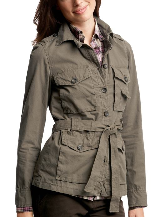 Belted utility jacket, $79.50 at the Gap